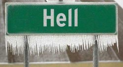 It's a cold day in Hell!